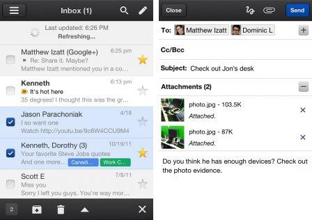 gmail 1 Lapplication Gmail se met à jour et sauvegarde vos images