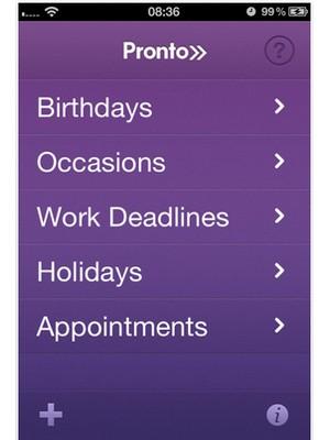 image 112 Test de Pronto : Un planificateur dévènements pour iPhone (0,79€)