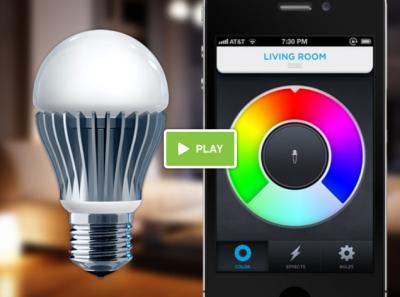 LIFX vidéo LIFX: Une ampoule contrôlée via iPhone !