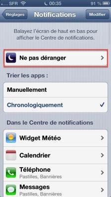 NPD ios6 2 Astuce iOS6 : Le nouveau mode Ne pas déranger