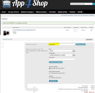 code promo 40% de réduction pour les Étuis IMYMEE sur App4Shop.fr