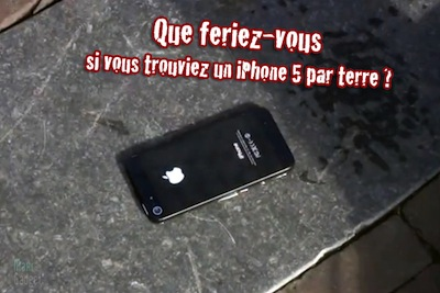 iphone5 par terre camera cachee LiPhone 5 en caméra cachée !