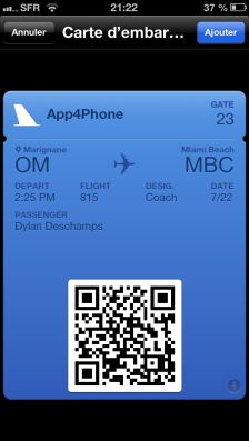 passbook app4 1 Astuce iOS6 : Comment se servir de PassBook ?