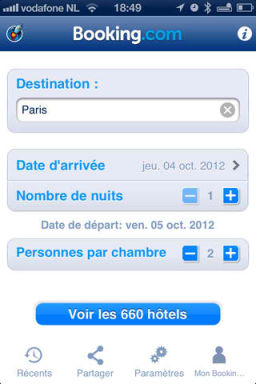 Booking 1 Lapplication gratuite du jour : Booking.com