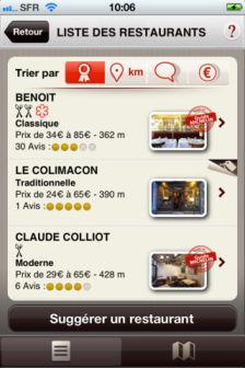 Michelin restaurant Les bons plans de l'App Store ce lundi 22 Octobre 2012