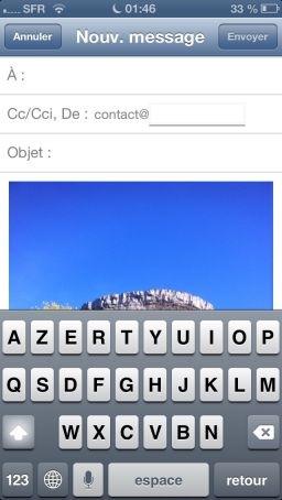 astuce mail photo 3 Astuce iOS6 : Insérer une photographie directement dans un eMail