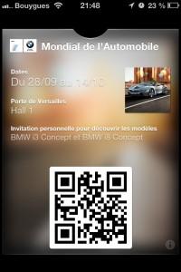 BMW : un exemple dutilisation de Passbook