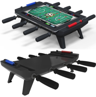 Classic Match Foosball avec et sans iPad 2 Classic Match Foosball : LiPad se transforme en babyfoot!