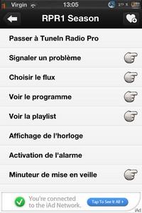 IMG 2230 Lapplication gratuite du Jour : TuneIn Radio