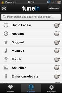 IMG 2232 Lapplication gratuite du Jour : TuneIn Radio