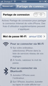 Partage connexion 1 169x300 Astuce iOS : activer le partage de connexion sur son iPhone