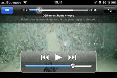 defilement video 1 Astuce iOS : régler la vitesse de défilement dans une vidéo
