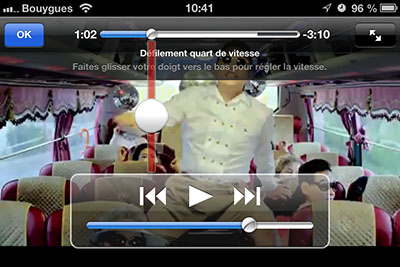 defilement video 2 Astuce iOS : régler la vitesse de défilement dans une vidéo