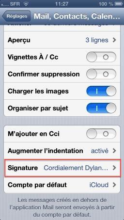 iOS6 Sign 2 Astuce iOS : Utiliser plusieurs signatures dans Mail