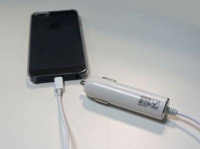 Allume cigare iP5 Des nouveautés sur la boutique App4Shop : Chargeur voiture iPhone 5 et Batterie Externe