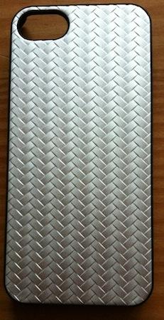 Coque Metal Weave pour iPhone 5, couleur Sylver