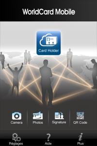 Copie décran 15 200x300 Test de WorldCard Mobile : Une application exclusivement professionnelle (5,99€)