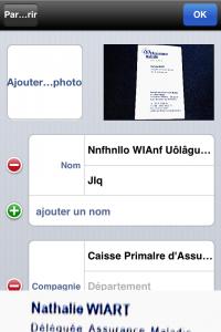 Copie décran 25 200x300 Test de WorldCard Mobile : Une application exclusivement professionnelle (5,99€)