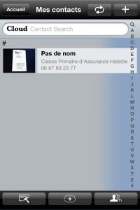Copie décran 34 200x300 Test de WorldCard Mobile : Une application exclusivement professionnelle (5,99€)