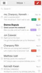 Gmail App 175x300 Gmail (gratuit) : mise à jour 2.0