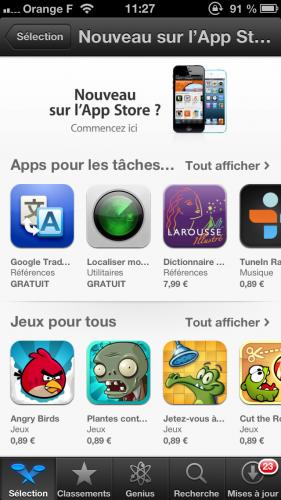Selection App Store debuter 281x500 Astuce : Débuter avec son iPhone
