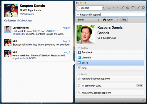 Test Cobook 31 500x354 App4Mac: Cobook, gestionnaire de contacts efficace (gratuit)