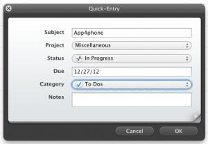 Test Firetask 2 300x207 App4Mac: Firetask, sorganiser facilement sur Mac et iDevice (35,99€)