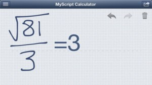 Test MyScript Calculator 1 300x168 L'application gratuite du jour: MyScript Calculator