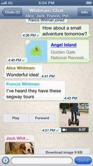 WhatsApp Messenger resultat WhatsApp Messenger (gratuit) ajoute la sauvegarde iCloud dans sa version 2.10.1
