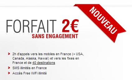 abonnement free Free : amélioration du forfait à deux euros