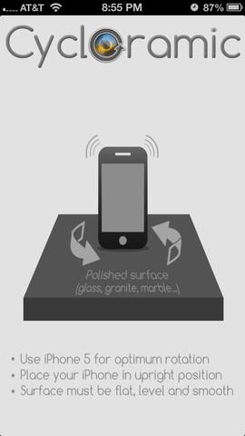cycloramic Cycloramic (0,89€): LAppli qui fait tourner la tête de votre iPhone 5 !