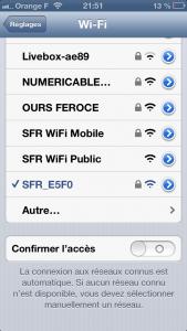 Accès WiFi Confirmer laccès 169x300 Astuce iOS : confirmer laccès (ou non) des connexions WiFi