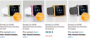 Bracelet cuir ipod Nano 300x126 App4Shop : un tas de produits en promotions (câbles lightning, coques, ...)