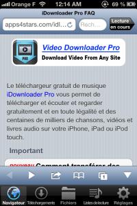 Copie décran 113 200x300 Test de iDownloader Pro : Vos fichiers à portée de doigt (1,79€)
