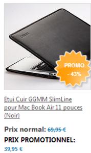 Etuit Cuir MacBook Air 178x300 App4Shop : un tas de produits en promotions (câbles lightning, coques, ...)