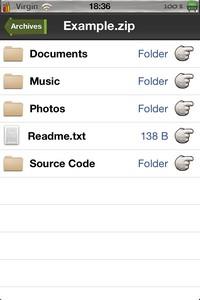 IMG 2552 Archives : Un lecteur darchives compressées sur iDevice... (2,69€)