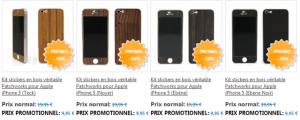 Kit Sticker 300x120 App4Shop : un tas de produits en promotions (câbles lightning, coques, ...)