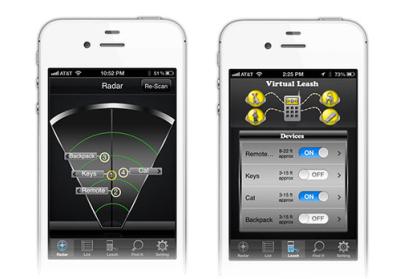 Stick N Find écran iPhone Accessoire : Stick N Find, liPhone retrouve les objets perdus (26€)