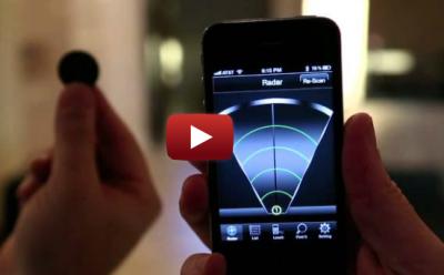 Stick N Find vidéo Accessoire : Stick N Find, liPhone retrouve les objets perdus (26€)