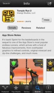Temple Run 2 info Apple 174x300 Apple commente certaines applications sur lApp Store