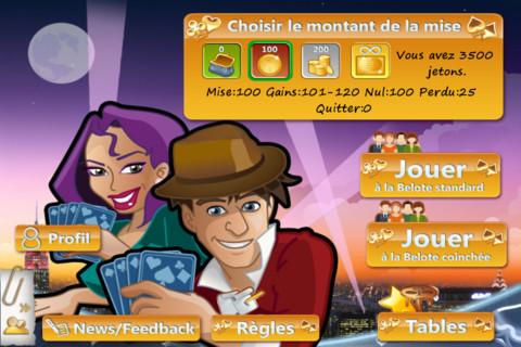 Test Belote Online 1 L'application gratuite du jour : Belote Online