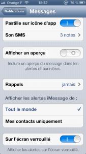 apercu message 1 169x300 Astuce iOS : Activer/désactiver laperçu des messages