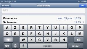 astuce calendrier 1 300x169 Astuce iOS : Ajouter rapidement un évènement au calendrier