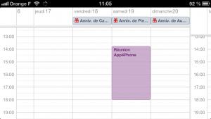 astuce calendrier 3 300x169 Astuce iOS : Ajouter rapidement un évènement au calendrier