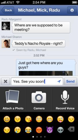 facebook 5 4 Facebook introduit les messages vocaux et améliore les lieux dans sa version 5.4
