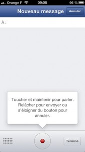 ios android facebook messenger mise a jour appels messages vocaux 3 169x300 Facebook Messenger vous permet désormais de communiquer en Vocal !