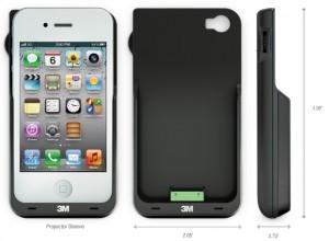 iphone projecteur 2 300x220 Accessoire : 3M transforme votre iPhone en projecteur (249€)