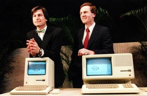 steve jobs john sculley 500x329 Apple est contraint de sadapter daprès Sculley, ex patron dApple