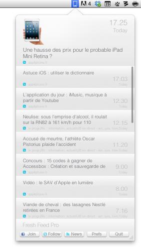 Capture d'écran 2013 02 19 à 19.09.08 283x500 App4Mac: Avec Fresh Feed Pro, ne loupez plus aucune news (1,79€)