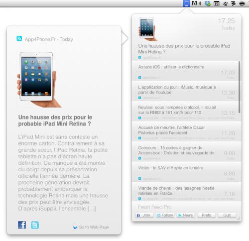 Capture d'écran 2013 02 19 à 19.09.19 500x484 App4Mac: Avec Fresh Feed Pro, ne loupez plus aucune news (1,79€)